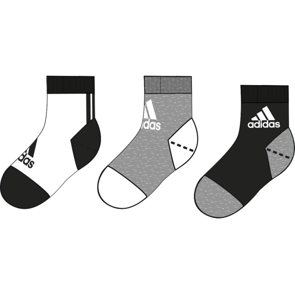 Calcetines Unisex Adidas Little Kids Ankle 3pp image number 3.0