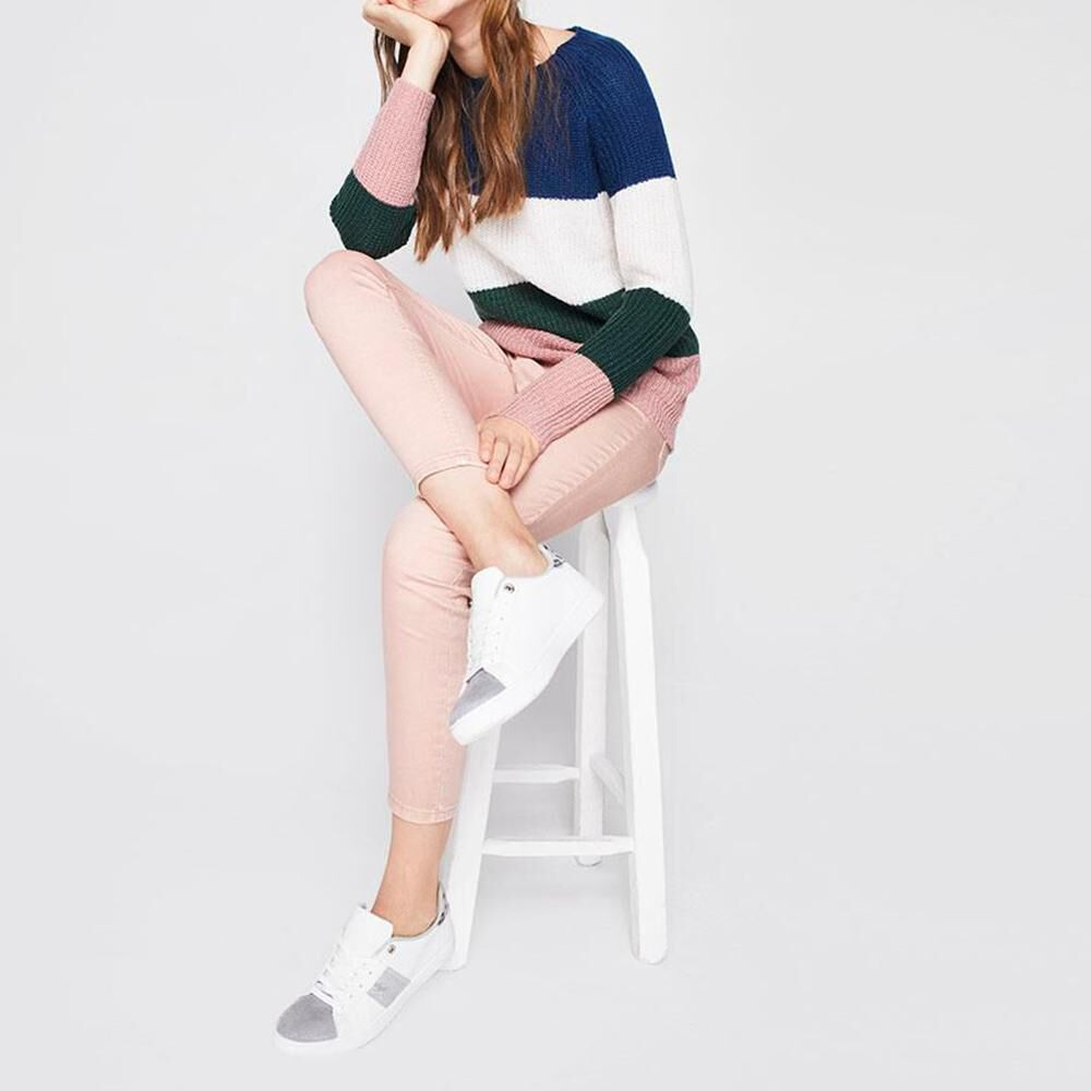 Sweater Bloque Color Mujer Freedom image number 1.0