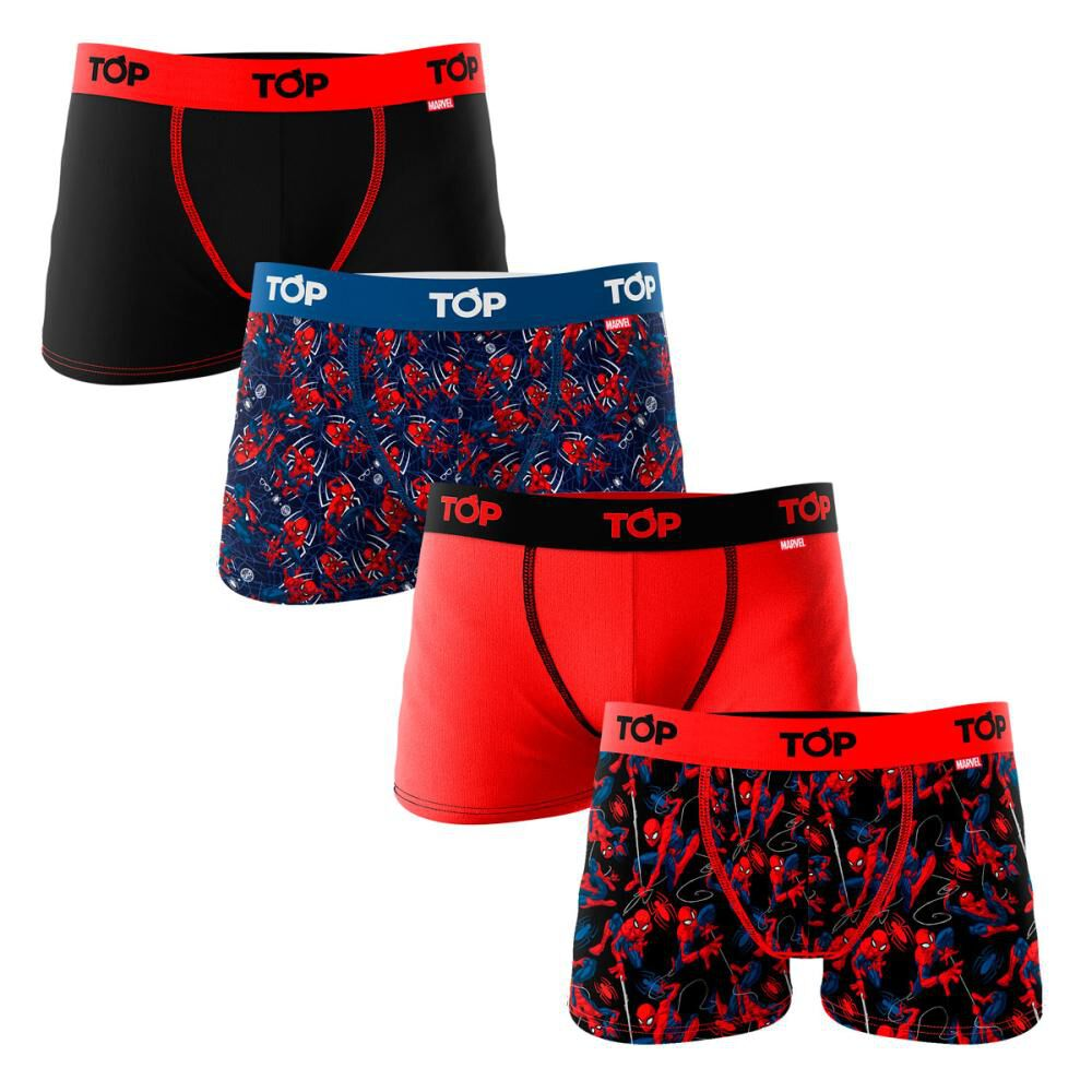 Pack Boxer Niño Top / 4 Unidades image number 0.0