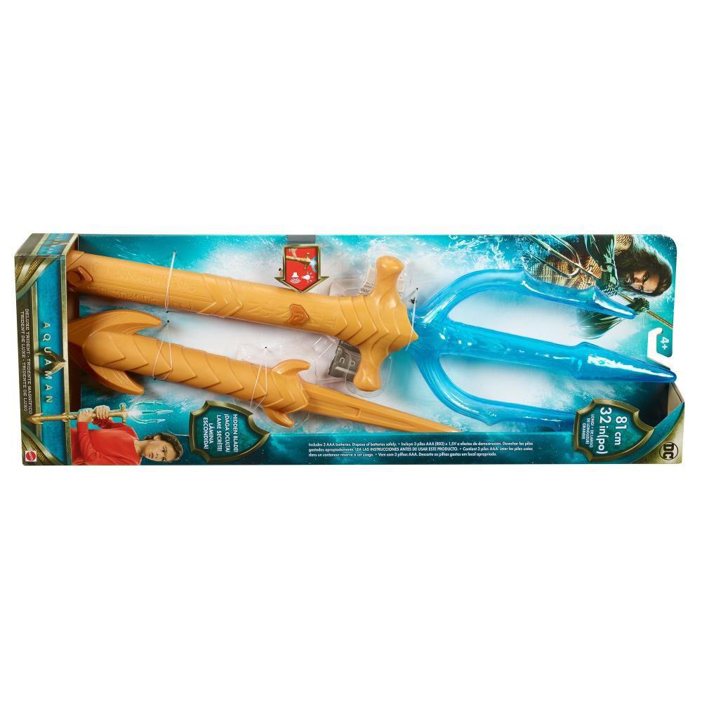 Figura De Accion Dc Comic Dc Movie Aquaman Tridente Luces Y Sonidos image number 2.0