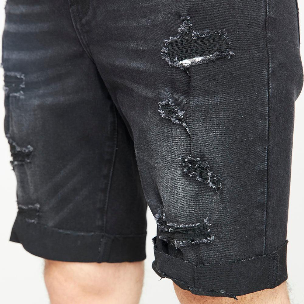 Bermuda Jeans Con Roturas Hombre Rolly Go image number 4.0