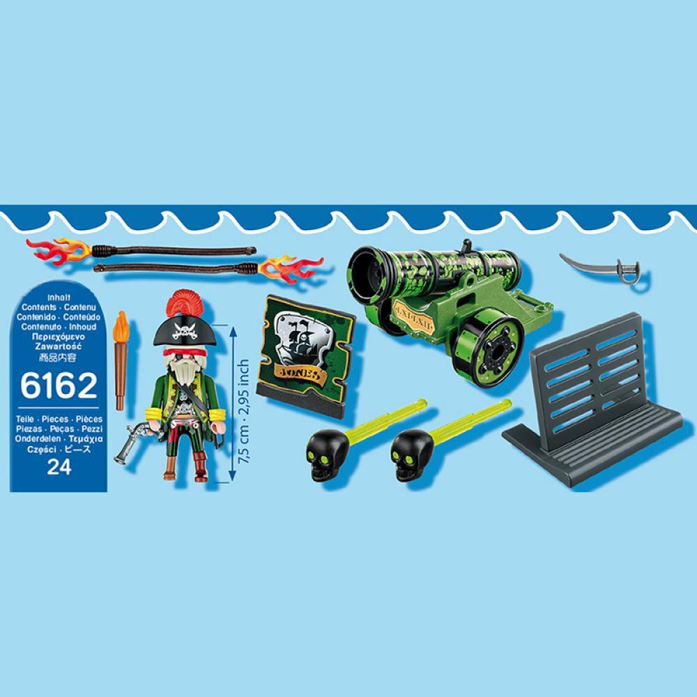 Figura Coleccionable Playmobil Cañón Interactivo Verde Con Capitán Pirata image number 4.0
