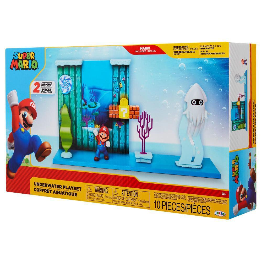 Figura De Accion Nintendo Set Escena Batalla Bajo El Agua Super Mario image number 2.0