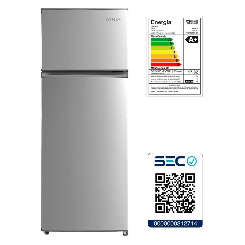 Refrigerador Winia FD240S / Frío Directo / 207 Litros image number 6.0