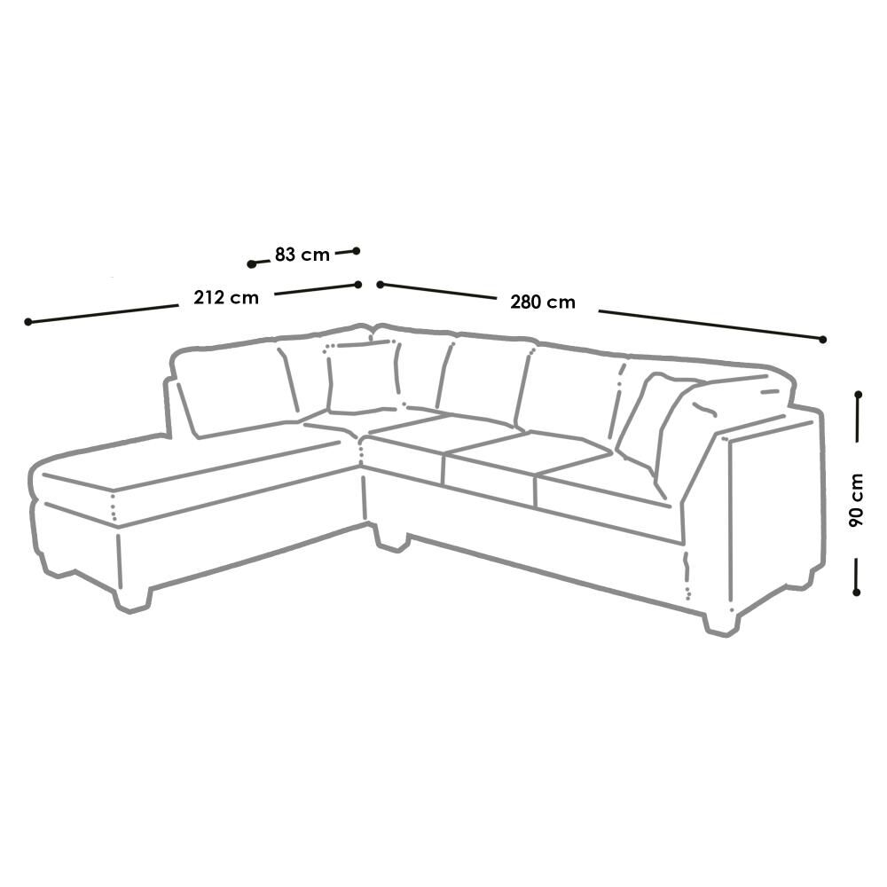 Sofa Seccional Casaideal Padua / 5 Cuerpos image number 5.0