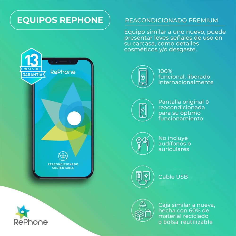 Smartphone Apple Iphone Xr Reacondicionado Negro / 128 Gb / Liberado image number 1.0