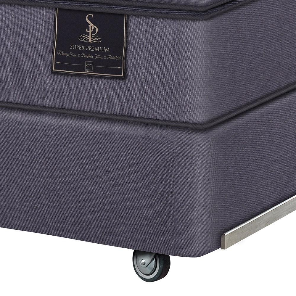 Box Spring Cic Super Premium / King / Base Dividida + Almohada image number 2.0