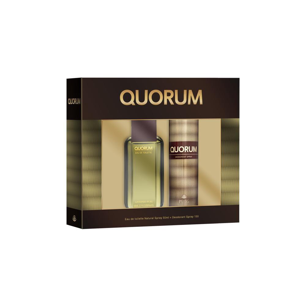 Perfume Set Quorum / 50 Ml / Eau De Toillete + Desodorante image number 0.0