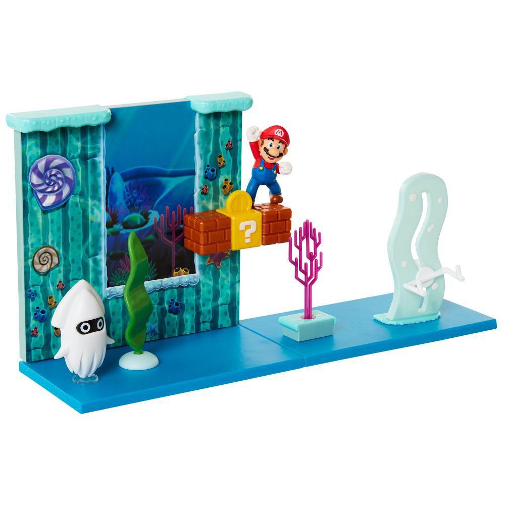 Figura De Accion Nintendo Set Escena Batalla Bajo El Agua Super Mario image number 4.0