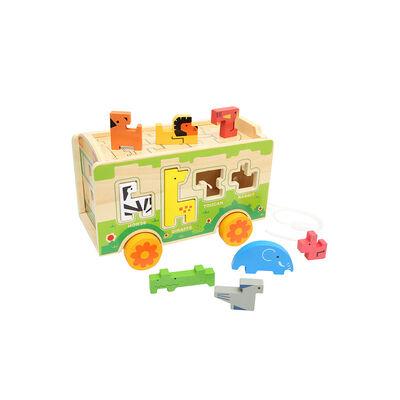 Juguete De Madera Baby Way Zoológico Bw-Jm08 Encaje