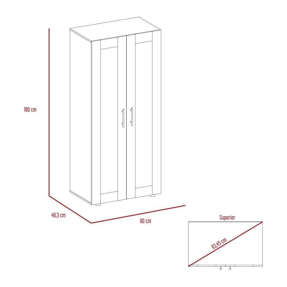 Closet Tuhome Z-80/ 2 Puertas image number 6.0