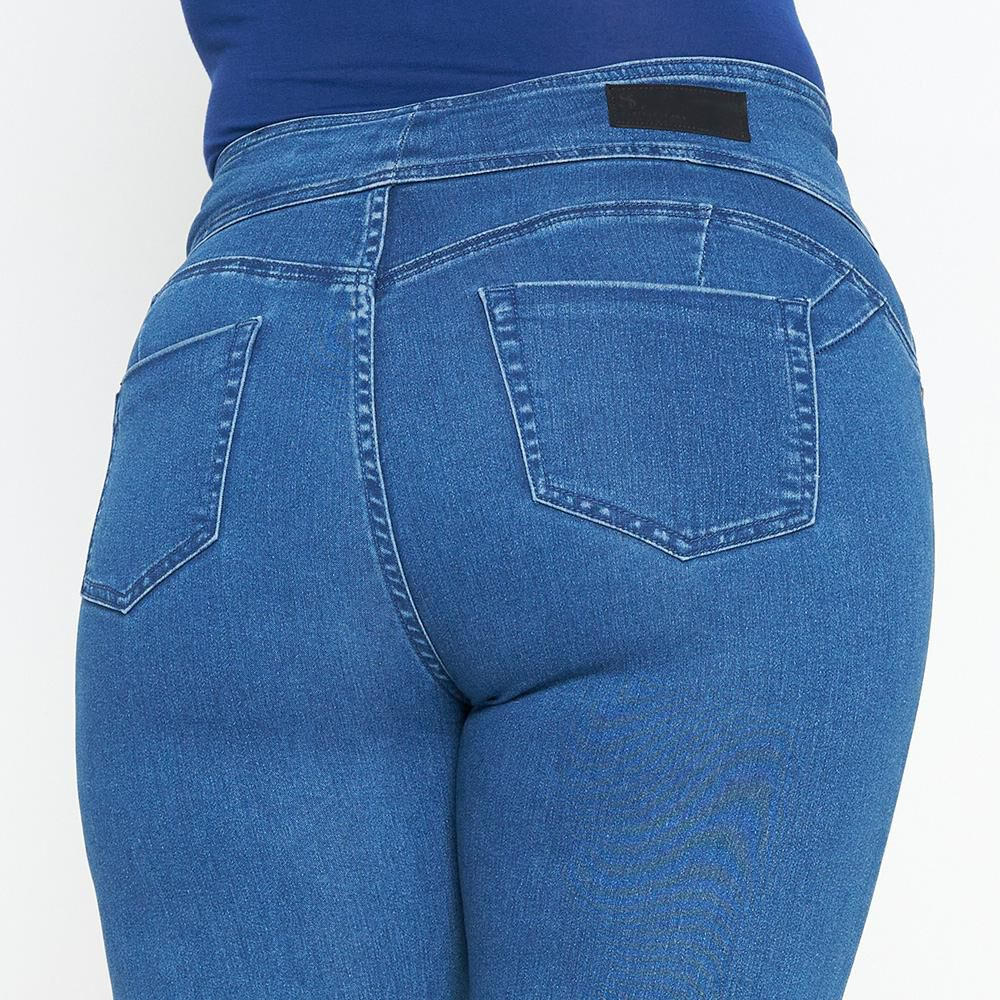 Jeans Mujer Tiro Alto Recto Push up Sexy large image number 5.0