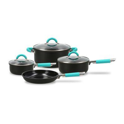 Bateria De Cocina Beck Home & Kitchen Black / 7 Piezas