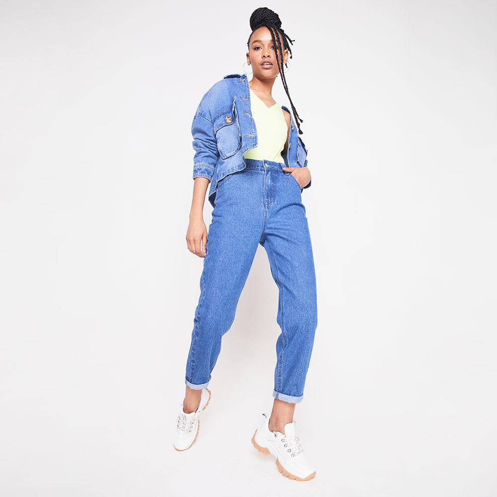 Jeans Tiro Alto Slouchy Mujer Rolly Go image number 1.0