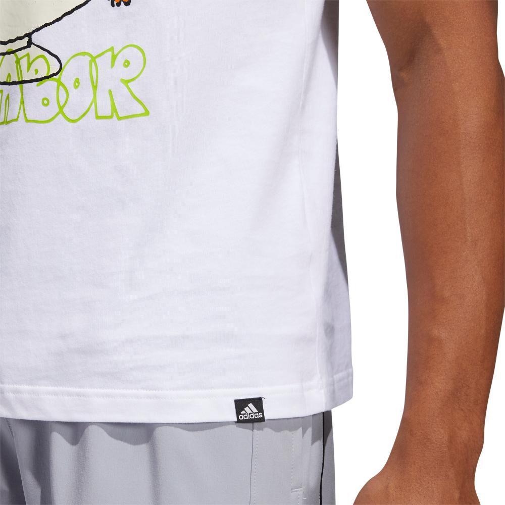Polera Hombre Adidas Estampado De Frutas Lil Stripe image number 4.0