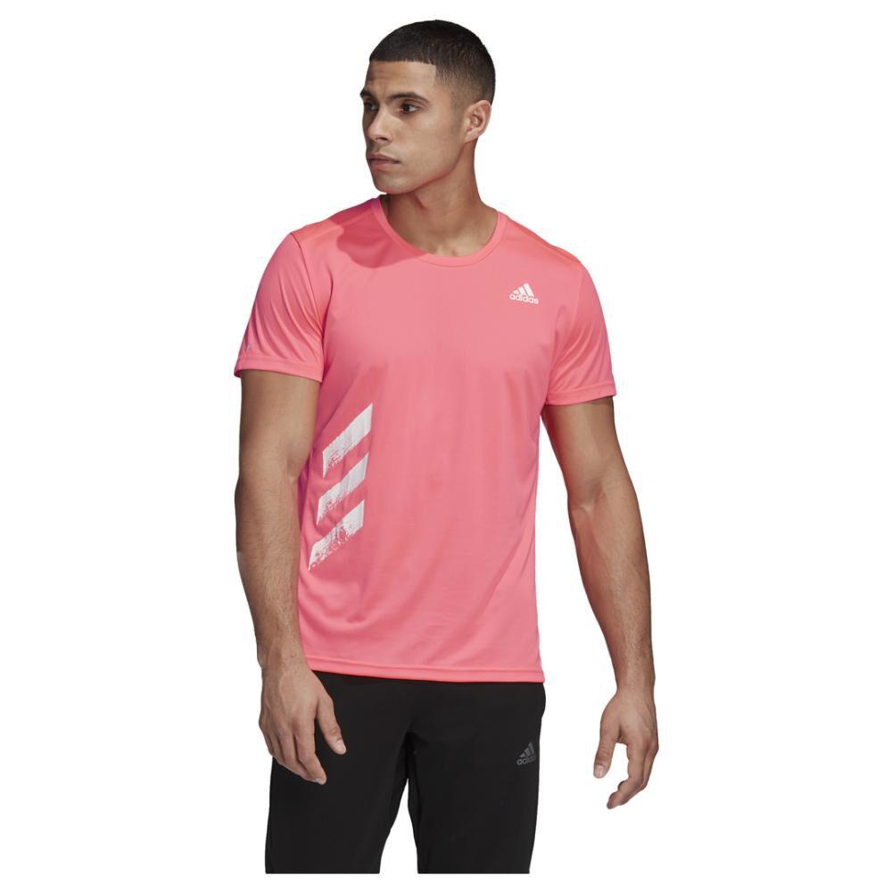 Polera Hombre Adidas Run It Pb 3 Bandas image number 0.0
