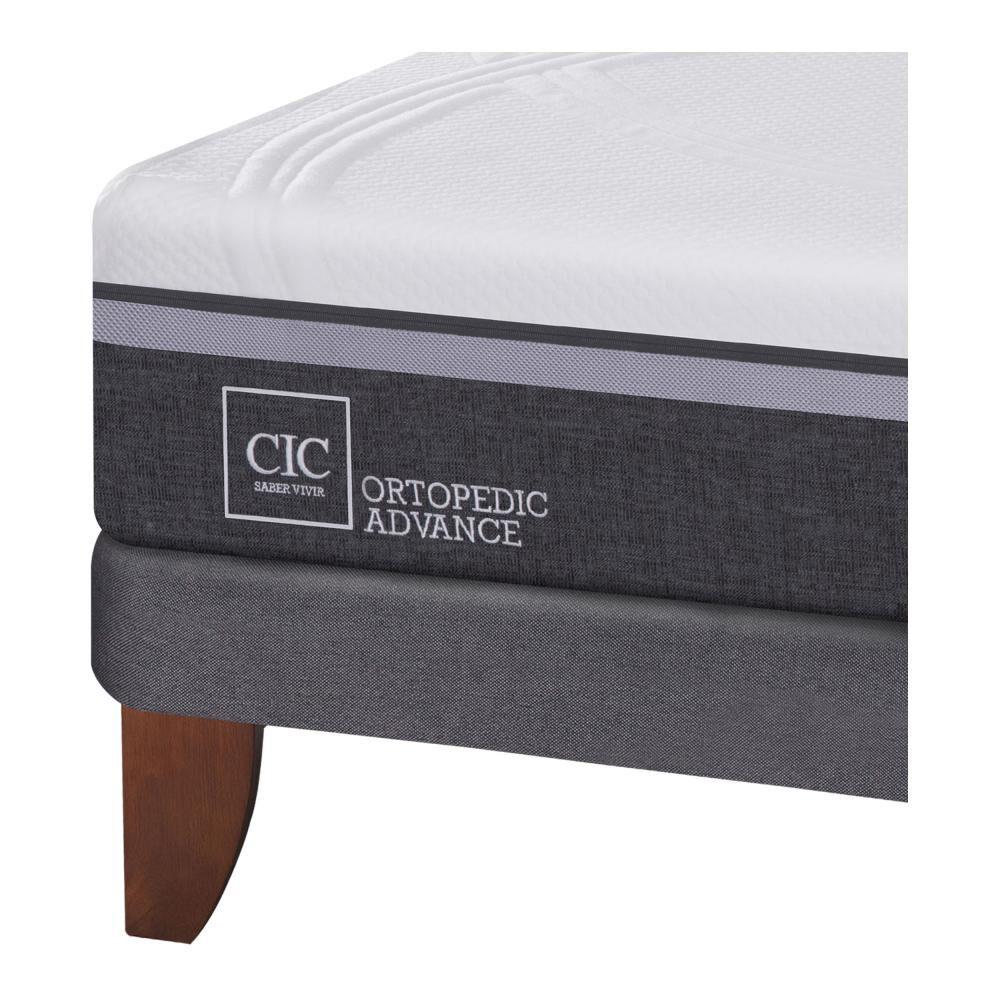Cama Europea Cic Ortopedic Advance / 2 Plazas / Base Normal  + Set De Maderas image number 3.0