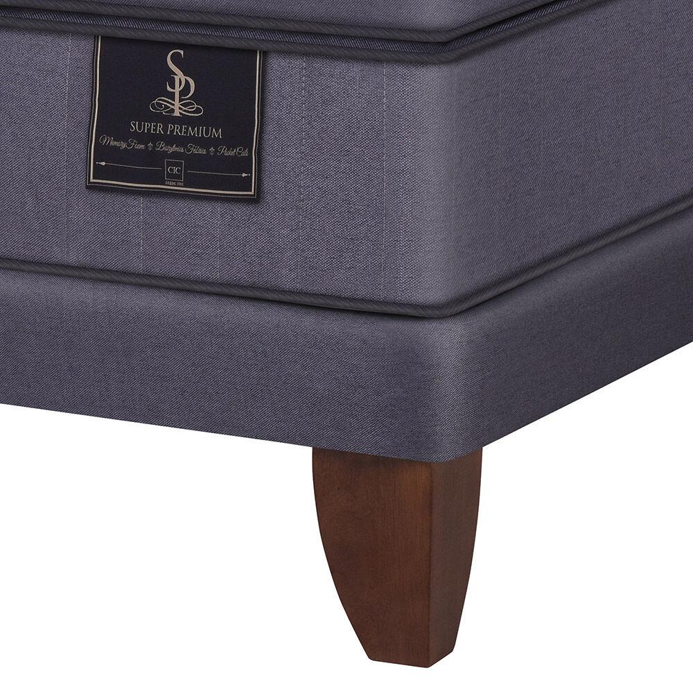 Cama Euro Super Premium King Textil image number 2.0