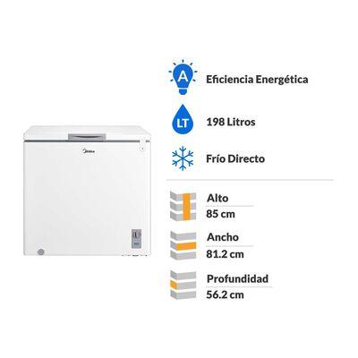 Freezer Horizontal Midea MFH-1990B258CN / Frío Directo / 198 Litros