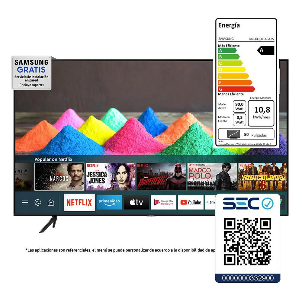 "Qled Samsung 50Q60TA / 50"" / Ultra Hd / 4K / Smart Tv image number 2.0"