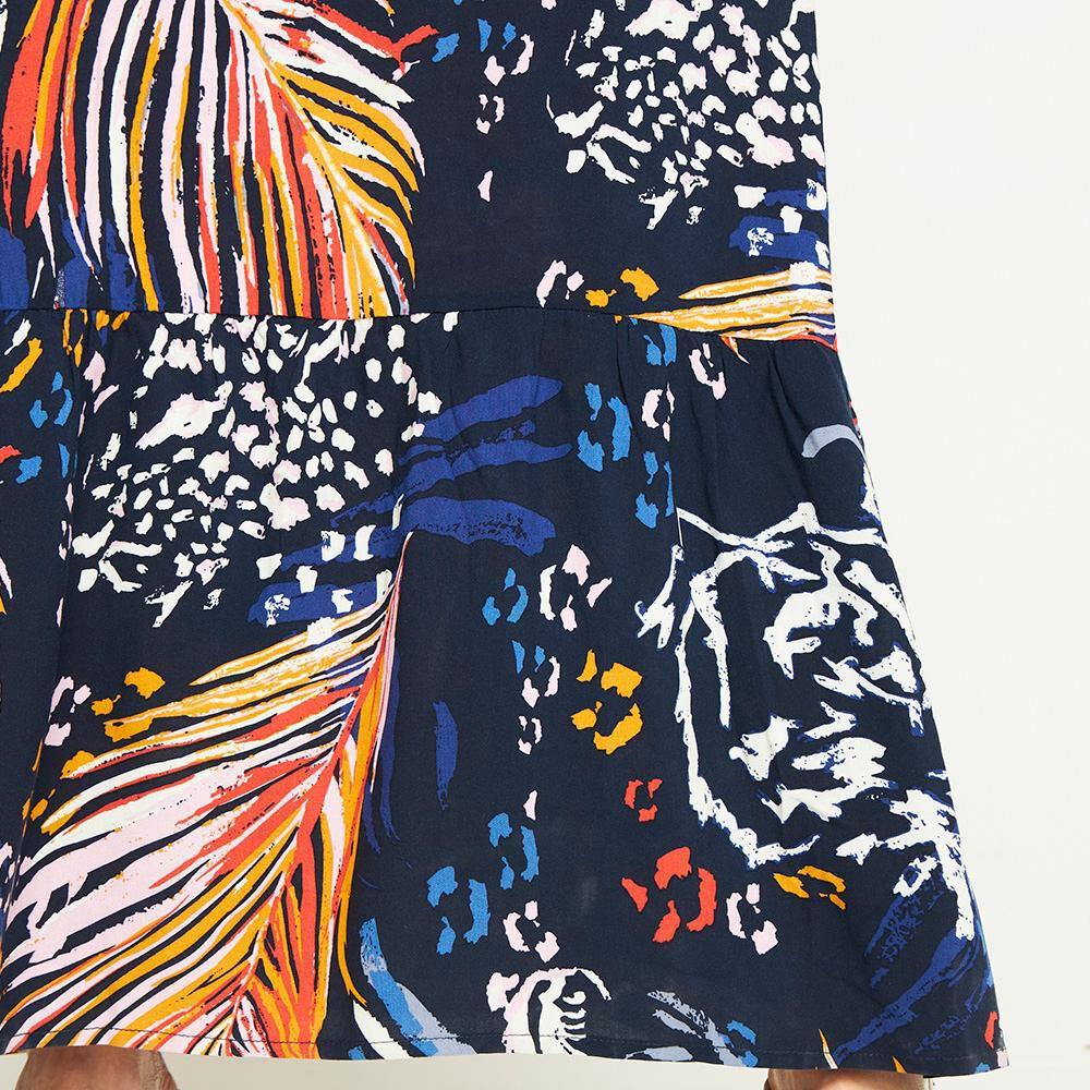 Vestido Amarra Escote Sin Mangas Cuello Escotado Mujer Kimera image number 4.0