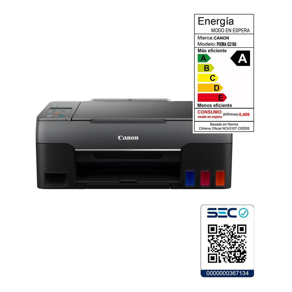 Impresora Multifuncional Canon Pixma G2160 image number 5.0