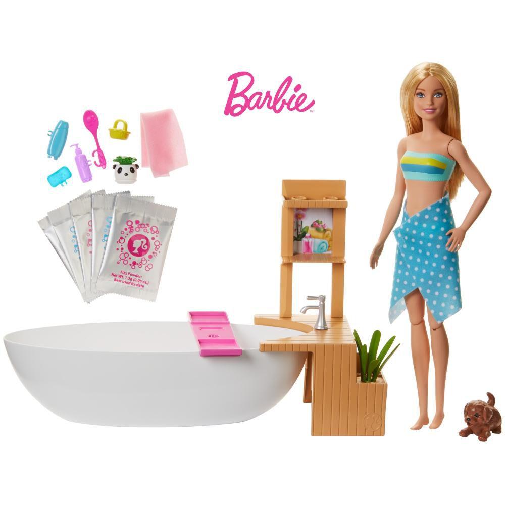 Muñeca Barbie Baño De Espuma image number 0.0