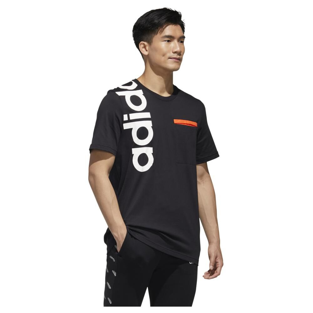 Polera Hombre Adidas M New Authentic Tee image number 2.0