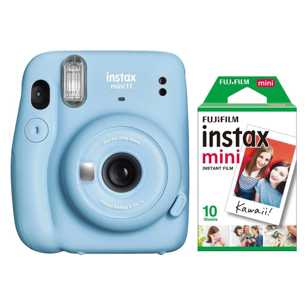 Cámara Instantánea Fujifilm Instax Mini 11 Azul + Película image number 0.0