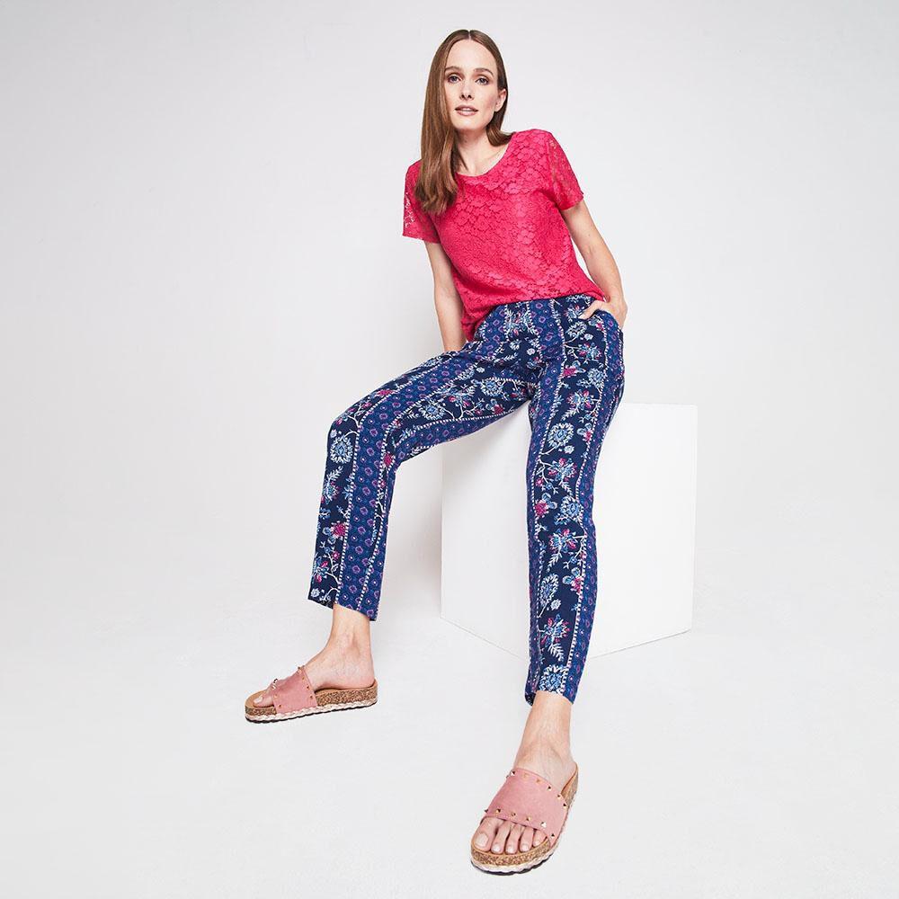 Pantalon Bombacho Viscosa Mujer Geeps image number 1.0