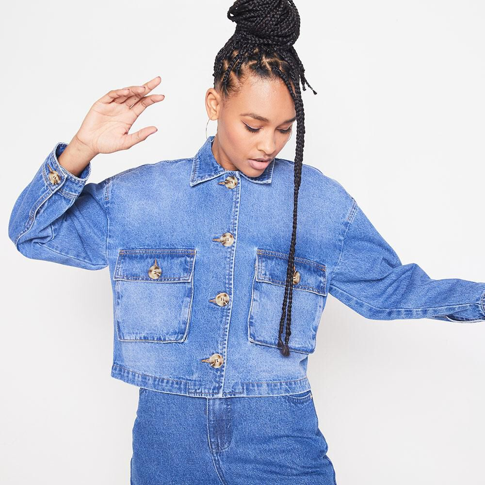 Chaqueta Denim Oversize Mujer Rolly Go image number 0.0