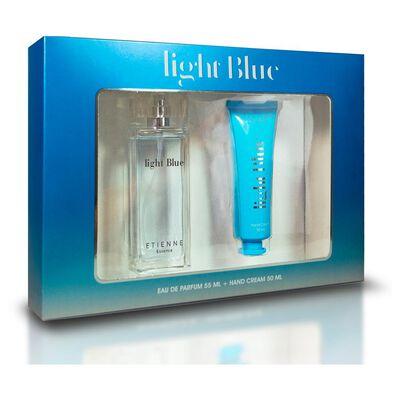 Set De Belleza Light Blue Etienne / 100 Ml / Edt, Eau De Toillete + Crema 50 Ml