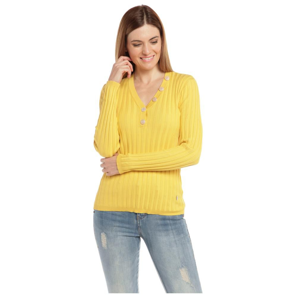 """Sweater Tejido Cuello V Mujer Bny""""S image number 0.0"""