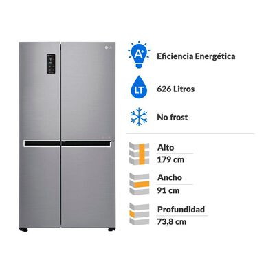 Refrigerador Side By Side Lg GS65MPP1 / No Frost / 626 Litros