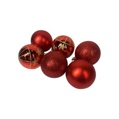 Esferas Casaideal Rojo 6 Piezas
