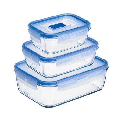 Set de Contenedores Luminarc Pure Box / Herméticos /Juego 3 Piezas