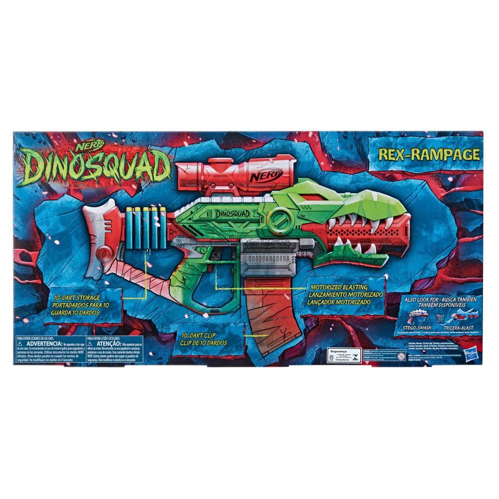 Lanzador De Dardos Nerf Dinosquad Rex-rampage image number 1.0