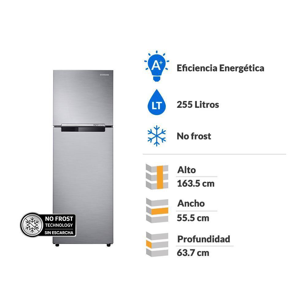 Refrigerador Top Freezer Samsung RT25FARADS8/ZS / No Frost / 255 Litros image number 1.0