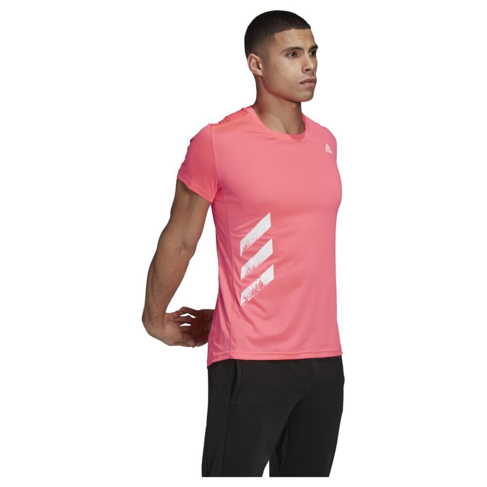 Polera Hombre Adidas Run It Pb 3 Bandas image number 6.0