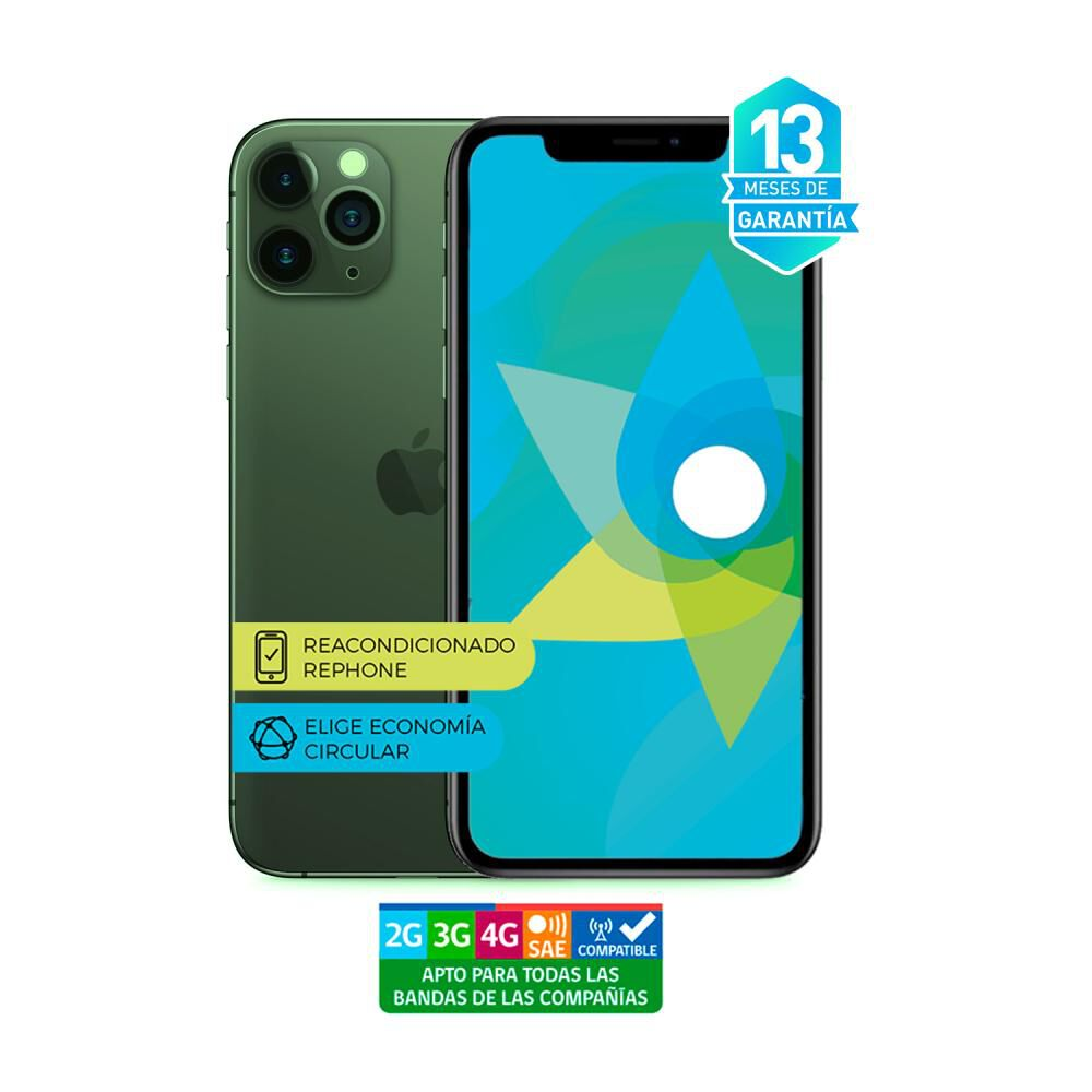 Smartphone Apple Iphone 11 Pro Max Reacondicionado Verde / 256 Gb / Liberado image number 3.0