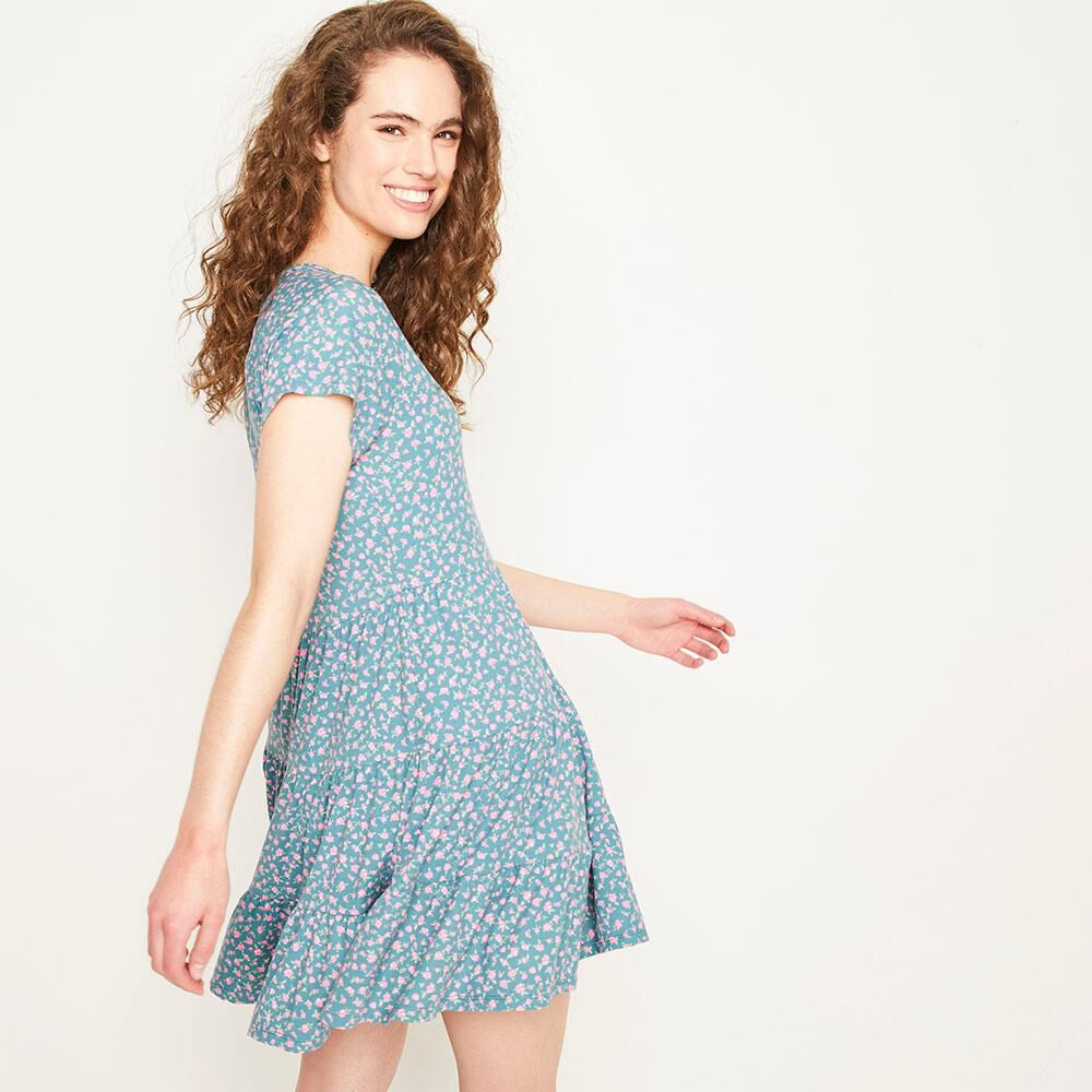 Vestido Corto Relaxed Fit Manga Corta Mujer Freedom image number 2.0