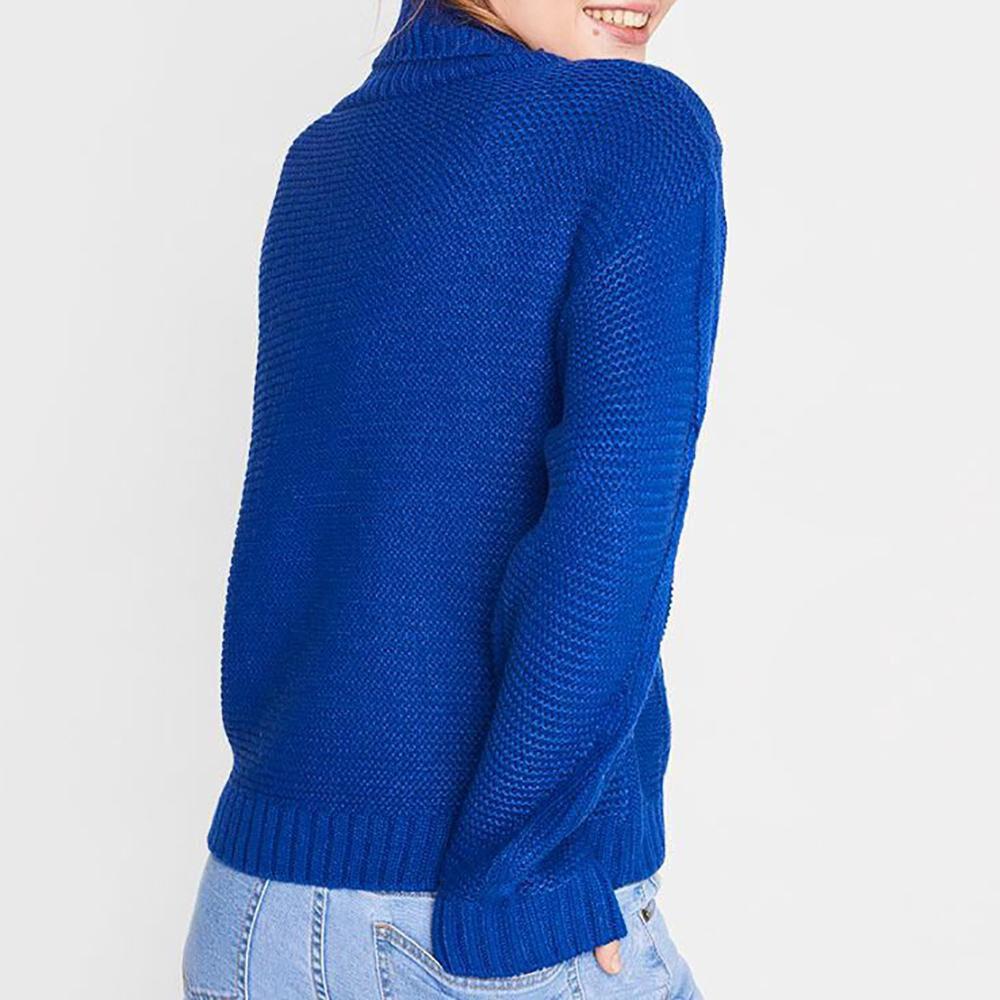 Sweater Trenzado Cuello Alto Mujer Freedom image number 2.0