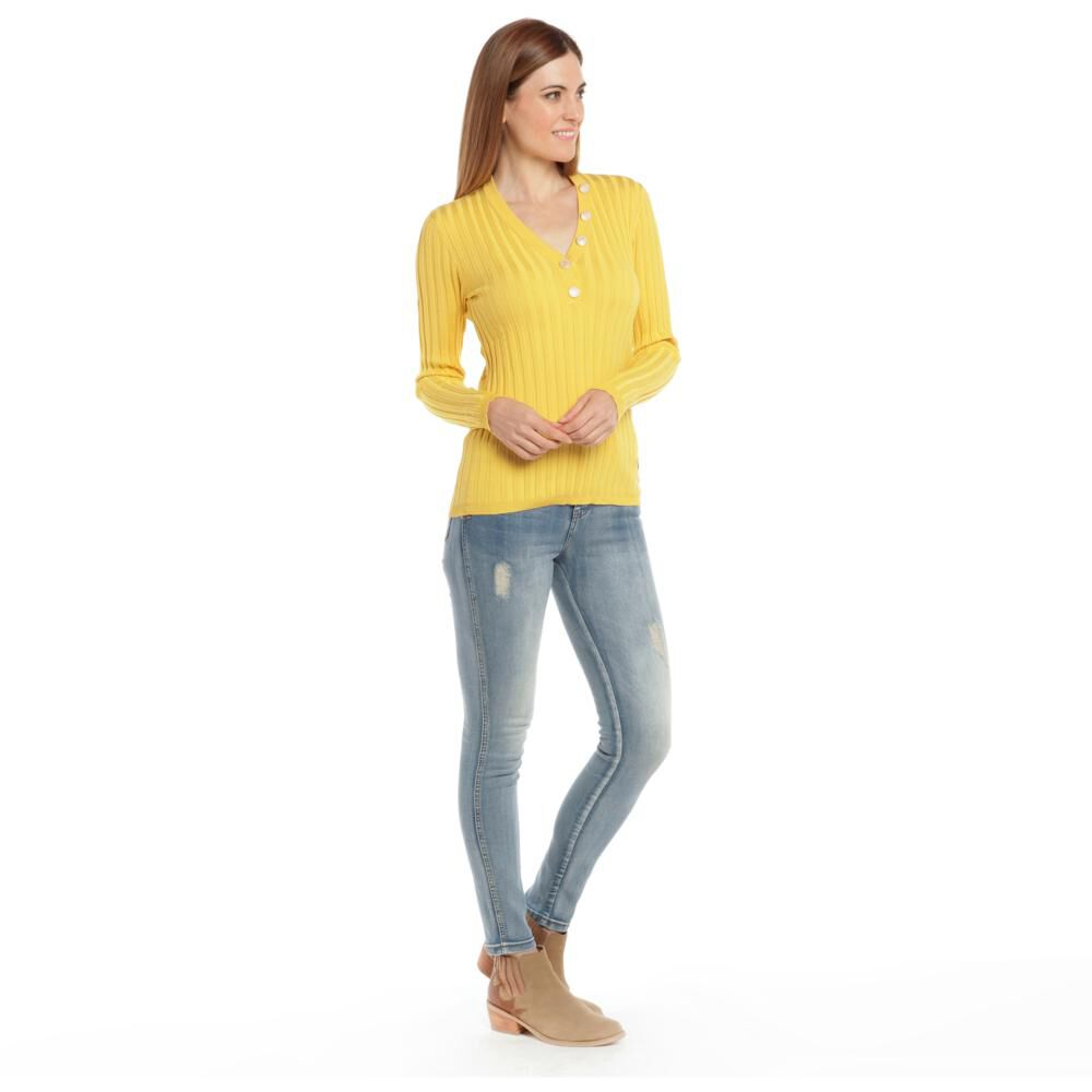 """Sweater Tejido Cuello V Mujer Bny""""S image number 2.0"""