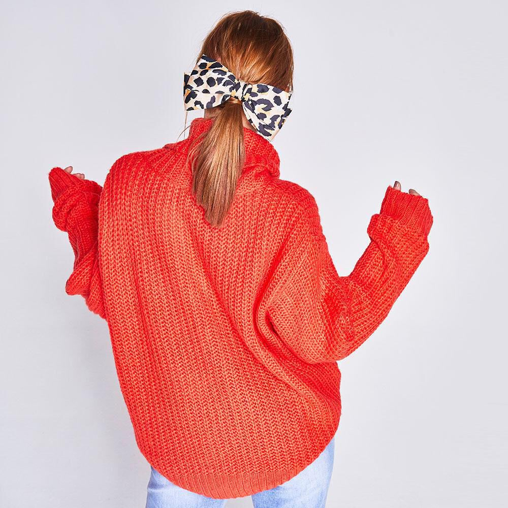 Sweater Cuello Alto Mujer Freedom image number 2.0