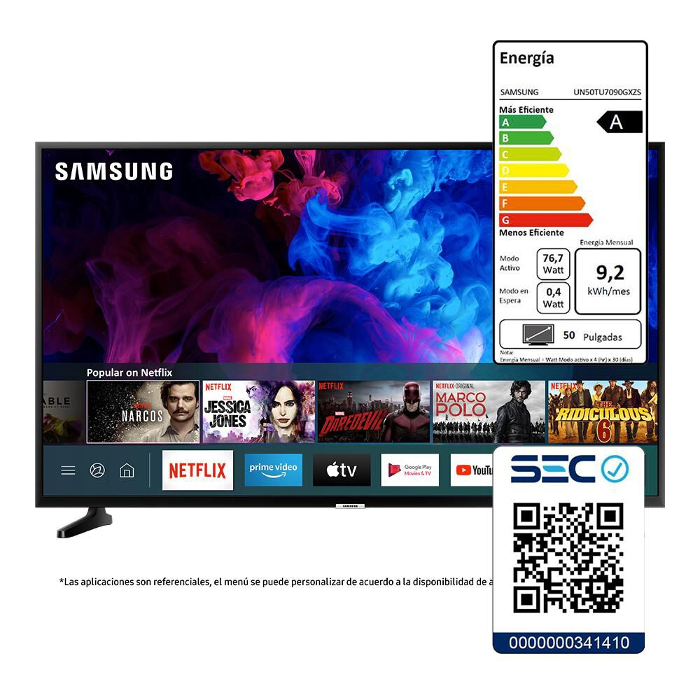 "Led Samsung TU7090 / 50"" / Crystal UHD / Smart Tv image number 7.0"