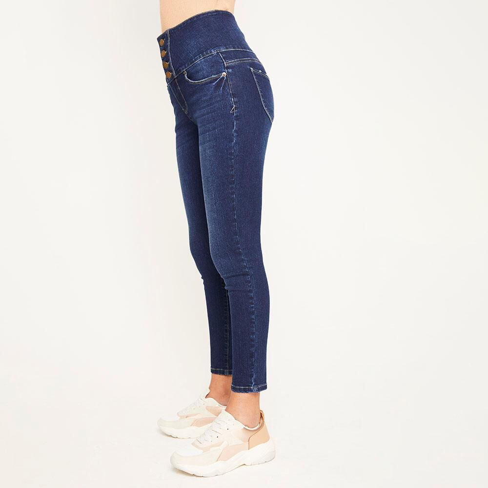 Jeans Pretina Alta Sculpture Mujer Rolly Go image number 5.0