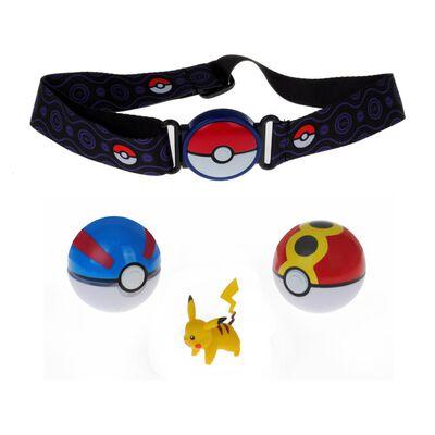 Cinturón Pokemon Con 2 Pokebolas + Pikachu