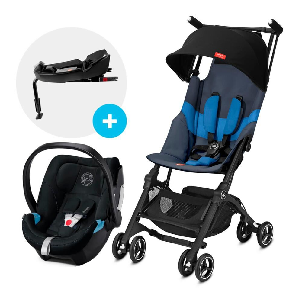 Coche Travel System Gb Pockit Plus At N. Blue + Aton5 + Base image number 0.0