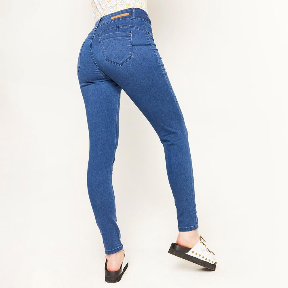 Jeans Tiro Alto Push Up Mujer Freedom image number 2.0