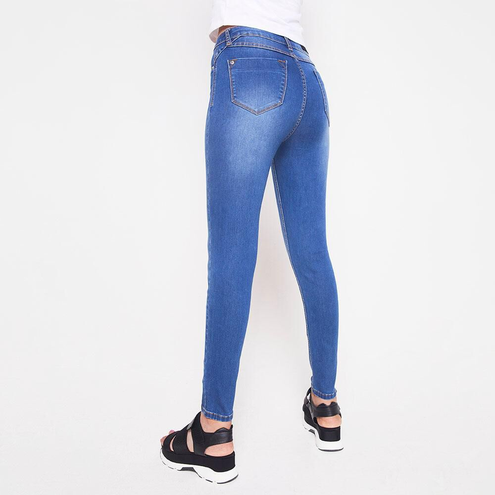 Jeans Mujer Tiro Alto Skinny Rolly go image number 2.0